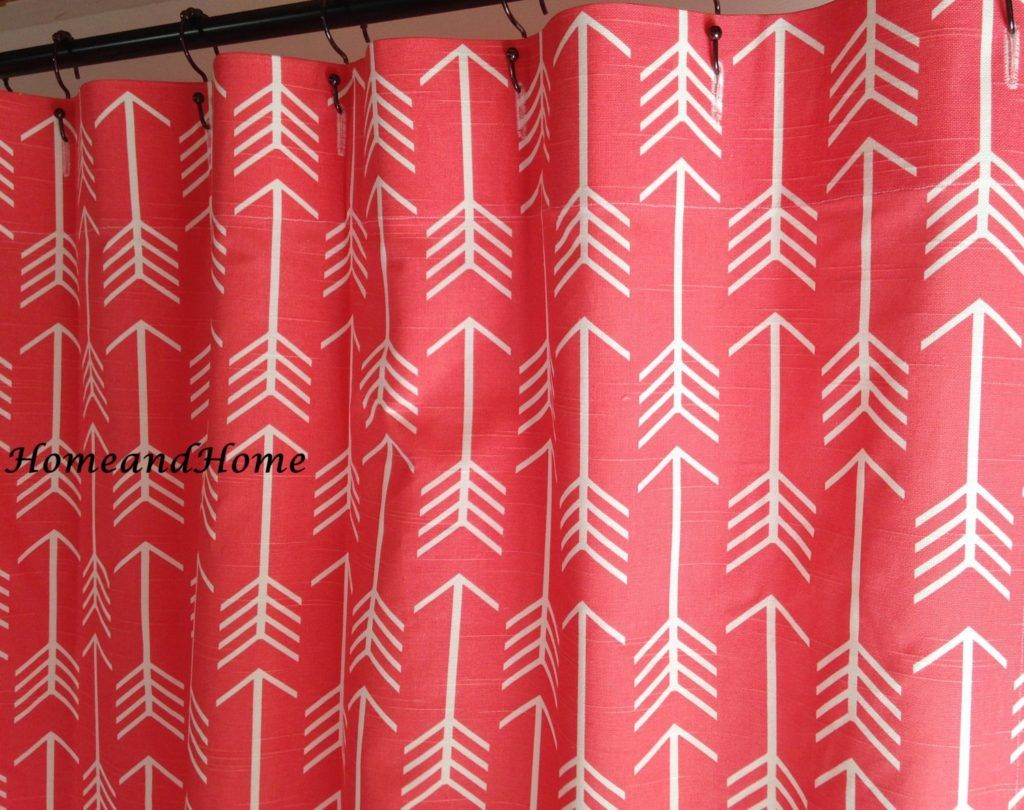 Red Coral Print Shower Curtain   Bathroom Decor.   Pinterest   Coral ...