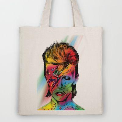 david bowie Tote Bag by Mark Ashkenazi - $18.00