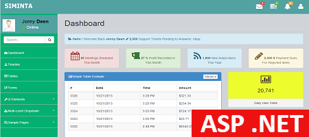Free Asp Net Admin Template Siminta Mini Binary Theme Binary Theme Dashboard Template Templates Admin