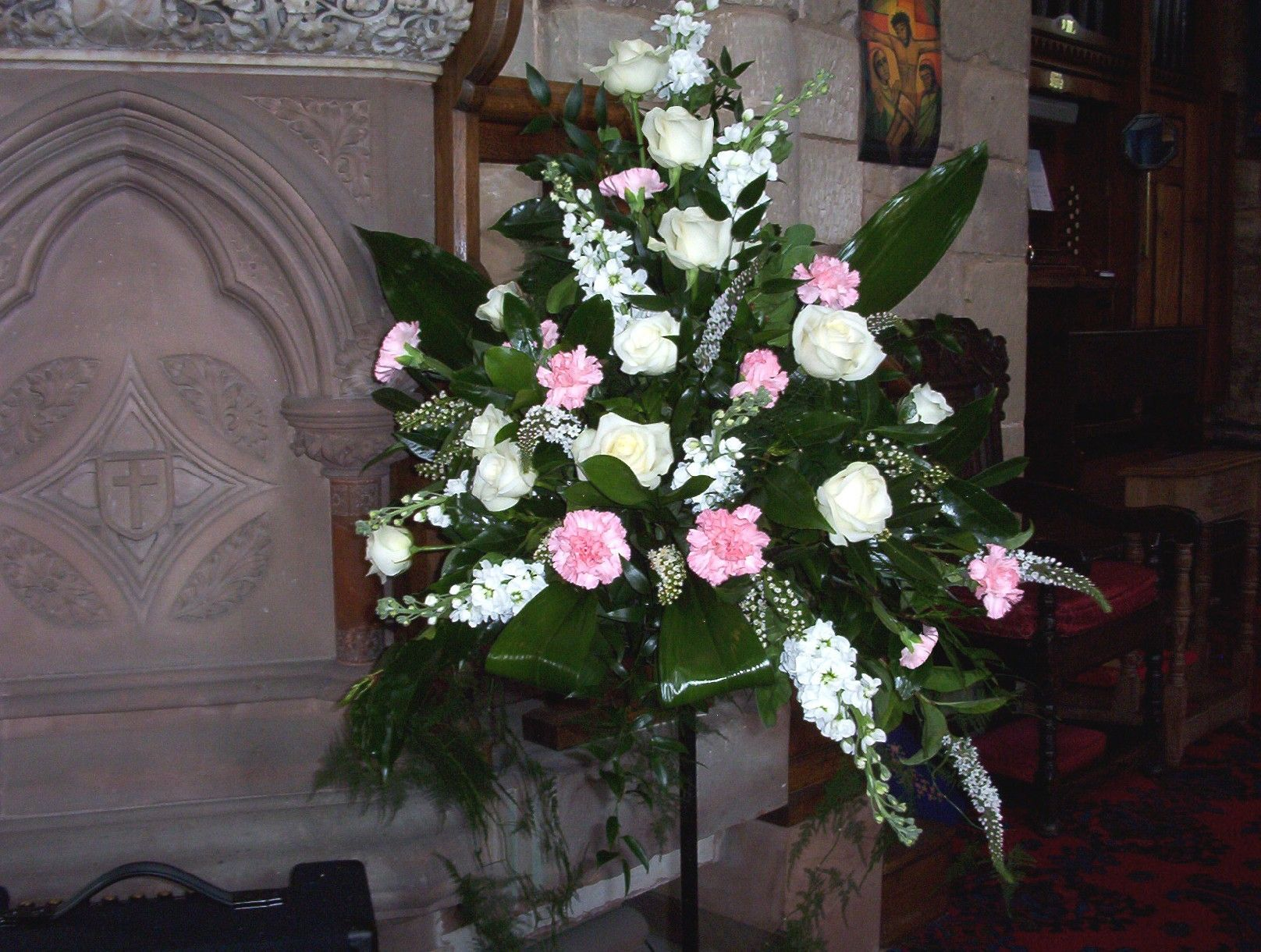 Church pedestal flower arrangements google search