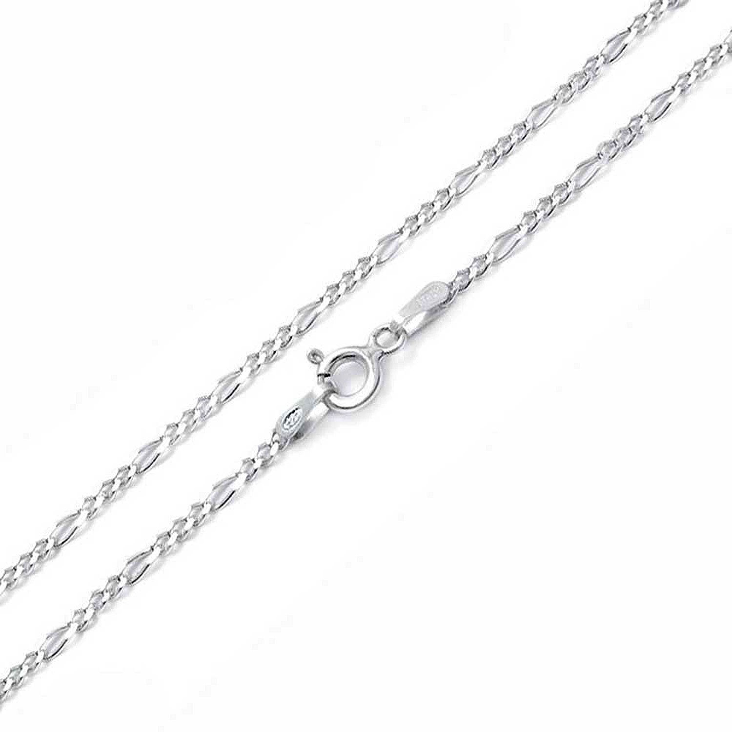 d0b0a22c5b1 Simple Plain Figaro Link Chain Anklet Charm Ankle Bracelet 925 Sterling  Silver 50 Gauge Made in Italy 10 Inch: Amazon.co.uk: Amazon.co.uk: