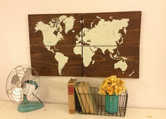 Wood World Map, Large Rustic World Map, Painted World Map, World Map - fresh wendy gold world map