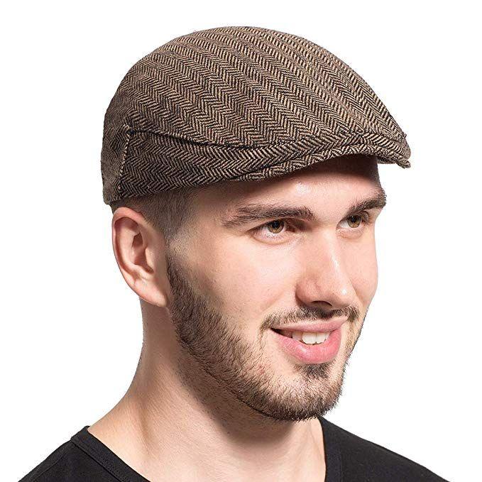 10096e4a Leucos Ticte Gatsby Newsboy Hat Men Women Classic Herringbone Tweeb Flat Cap