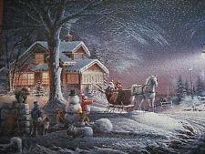 "Terry Redlin Christmas puzzle, ""Winter Wonderland,"" 1000 pieces, complete"