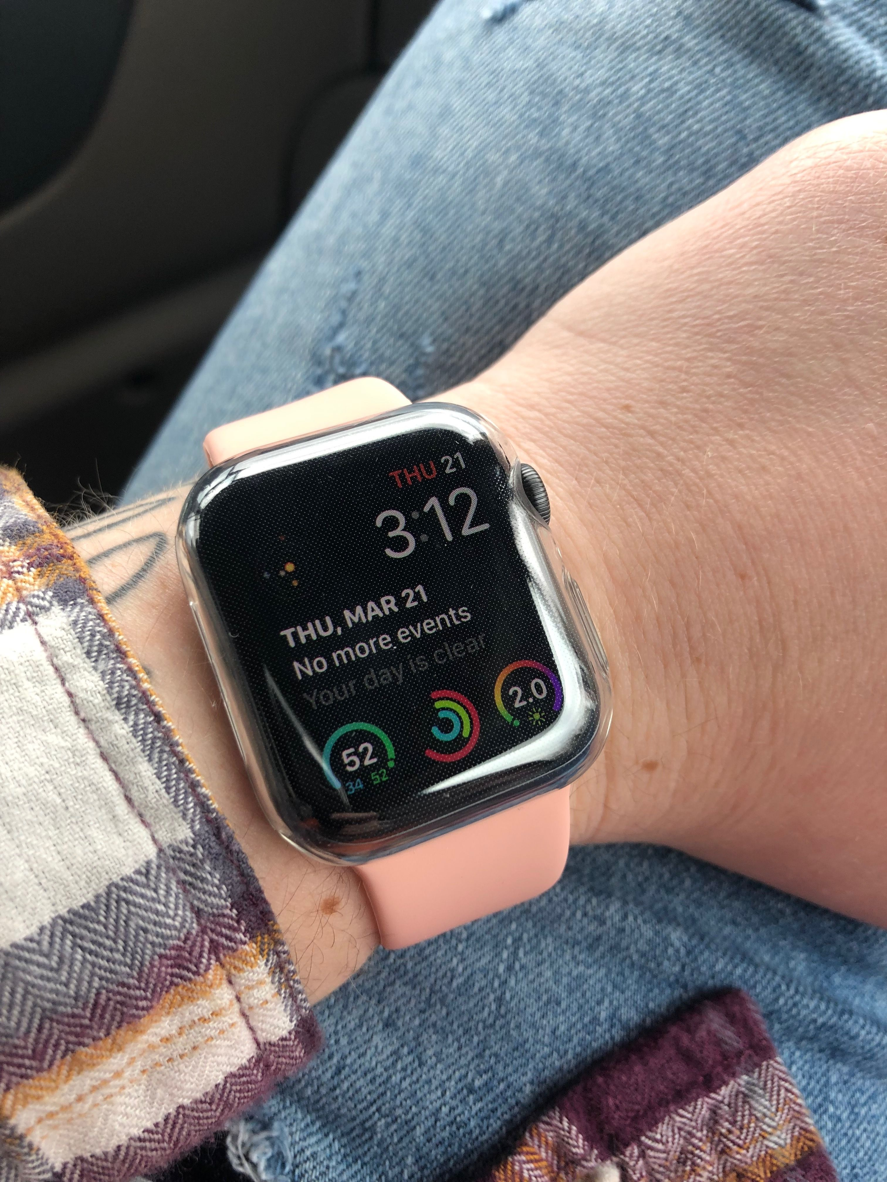 Apple Watch Series 4 Space Grey And Pink
