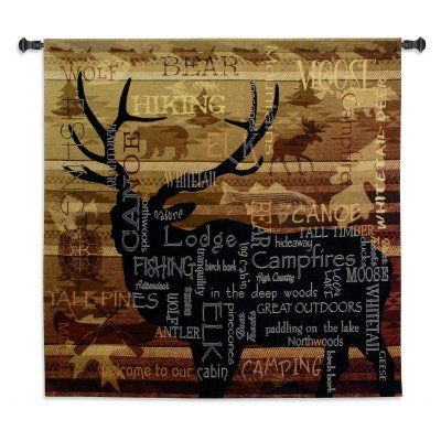 Fine Art Tapestries Natures Calling Wall Tapestry - 6121-WH