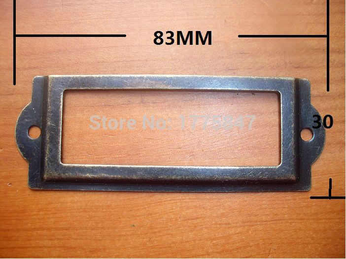 30pcs Antique Iron Label Frame Card Holder Without Cup Pull For Drawer Carpenter Repair Decoration Size Large 83 30m Antique Iron Frame Card Holder Frame Decor