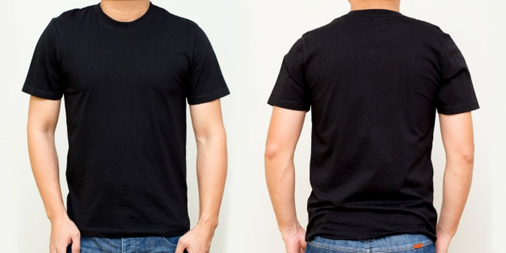 Download Black T Shirt Front And Back Mock Up Template For Design Print Paid Paid Affiliate Front Mock T Shirt Design Template Blank T Shirts Black Tshirt