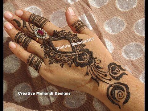 Henna Mehndi S : Youtube #popular #dubai #gulf style #back #hand #henna #mehndi