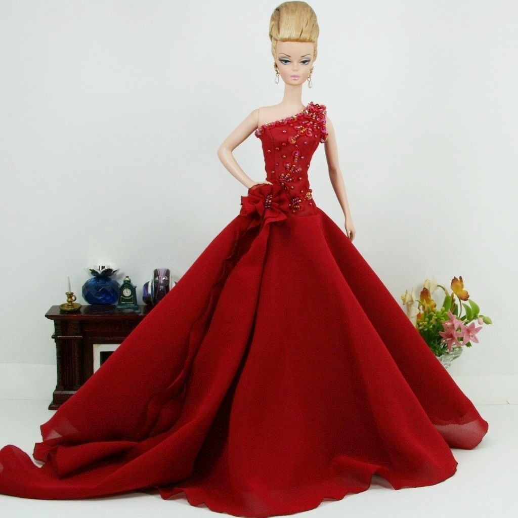 Fashion Silkstone Barbie Model Gown Outfit Dress for Dolls and Toys ...