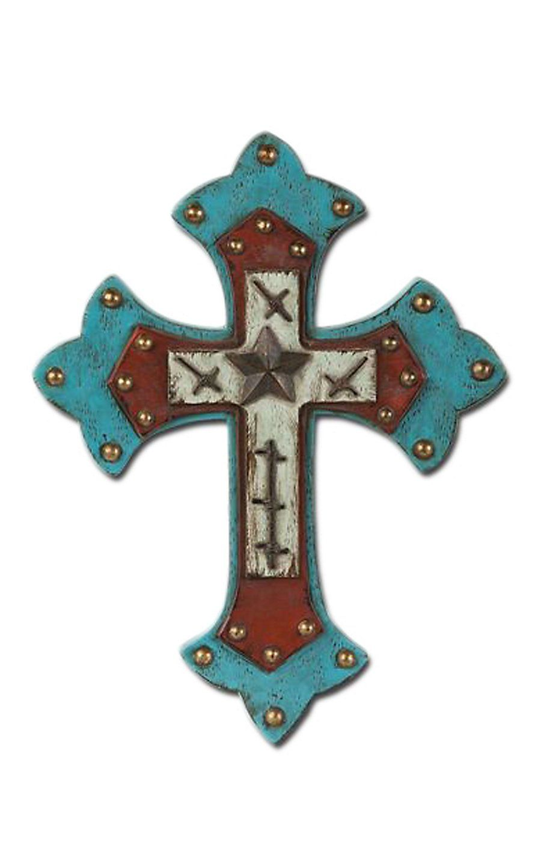 Montana Silversmiths Turquoise Studded Wall Cross Decor