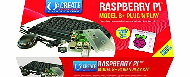 Raspberry Pi Model B  Plug N Play Kit U:Create No description (Barcode EAN = 5051259023086). http://www.comparestoreprices.co.uk/educational-toys/raspberry-pi-model-b -plug-n-play-kit-ucreate.asp