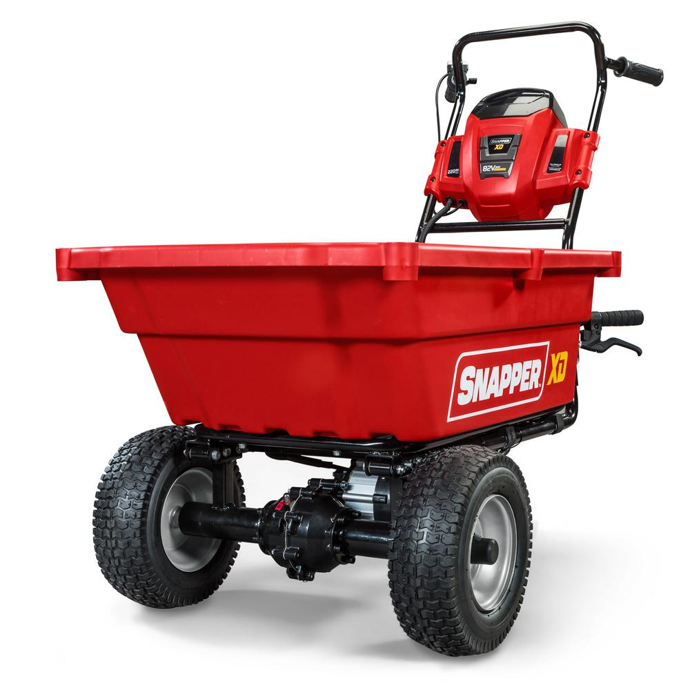Snapper Xd 82 Volt Max Cordless Electric Self Propelled Utility Cart With 3 7 Cu Ft Cargo Bed Battery Charger Not Included 1696858 Wheelbarrow Electric Wheelbarrow Utility Cart