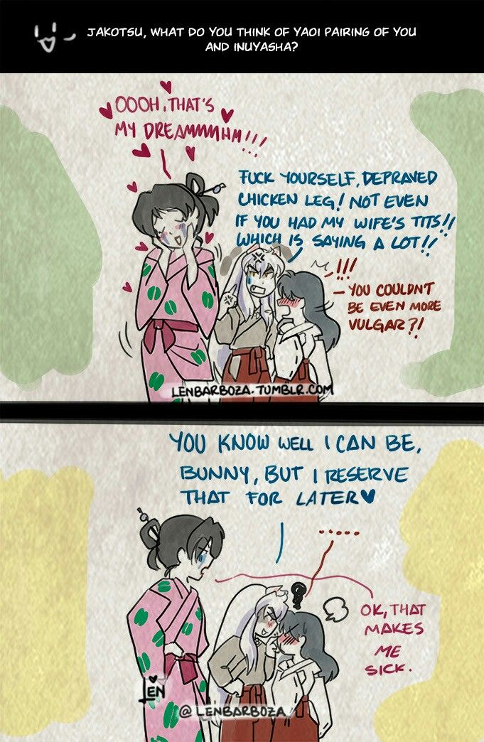 "Naughty Question ""Jakotsu x Inuyasha"" Inuyasha"