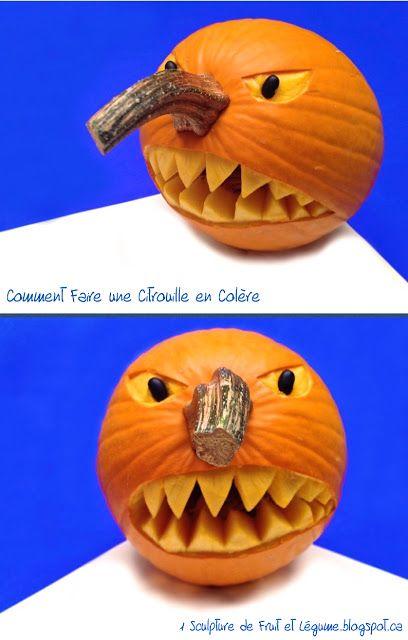 Comment Faire Une Citrouille Pour Halloween.1 Sculpture De Fruit Et Légume Comment Faire Une Citrouille En