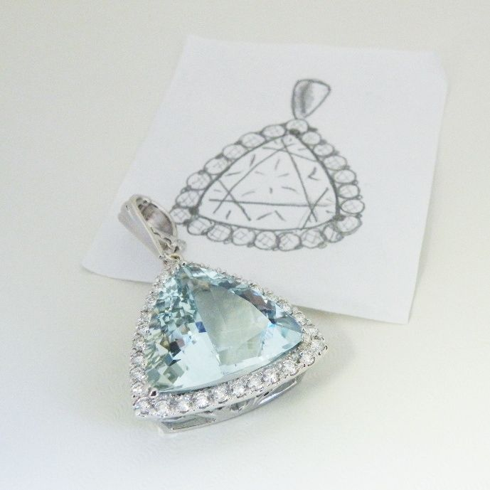 What to do with a giant Aquamarine when you have one. Jewelers@williamcrow.com