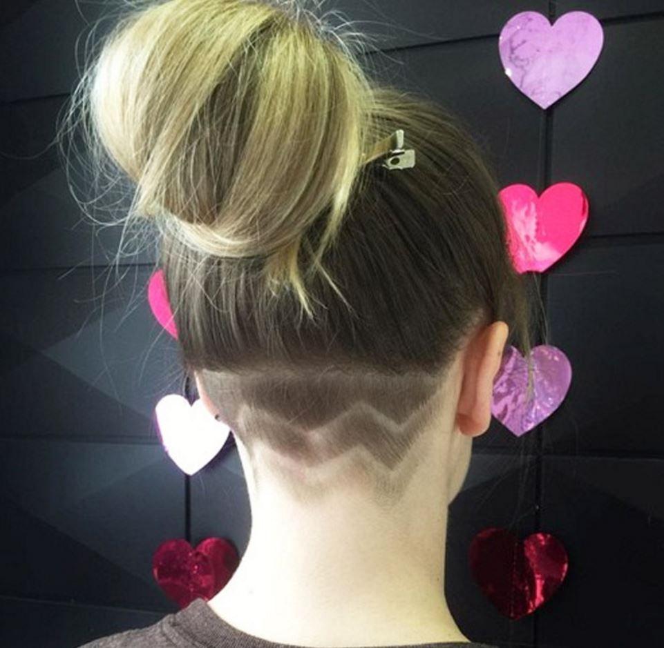 Kadin Ense Kazili Sac Modelleri Trendi 2018 Undercut Hairstyles