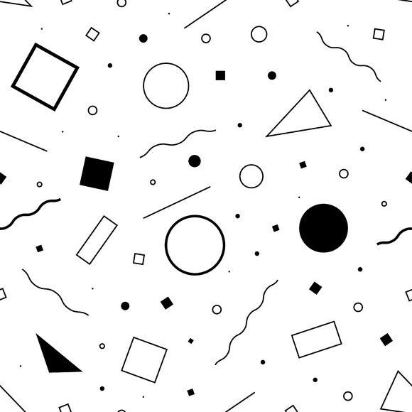 seamless pattern 80s  Vector  ~ Patterns on Creative Market
