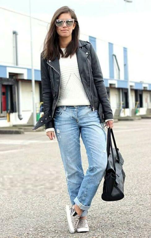 Boyfriend jeans outfit- Smart casual wear for summer u2013 Just Trendy Girls | Trendy | Pinterest ...