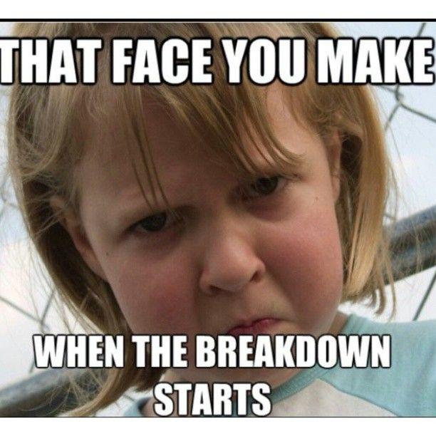 Intimidating face meme type