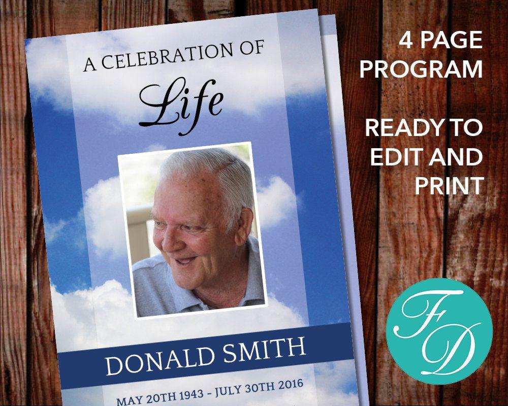 Heaven celebration of life program heaven funeral