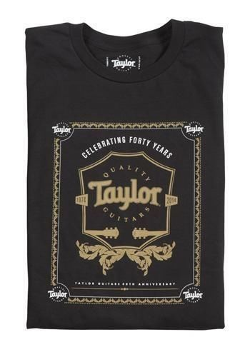 taylor 40th anniversary t shirt large acoustic and electric guitars taylor guitars. Black Bedroom Furniture Sets. Home Design Ideas