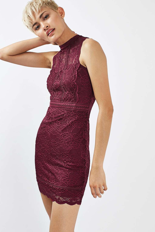 737d84db98 Topshop Scallop Mix Lace Bodycon Dress Fashion Company