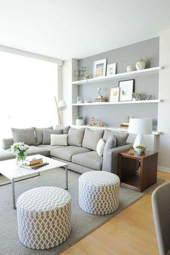 Abbinare il grigio alle pareti nel 2019 appartamento for Decorazioni per pareti soggiorno