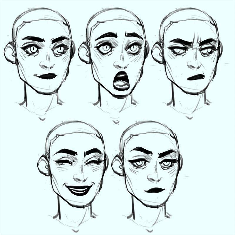Facial Expressions Drawing Expressions Facial Expressions Drawing Art Sketches