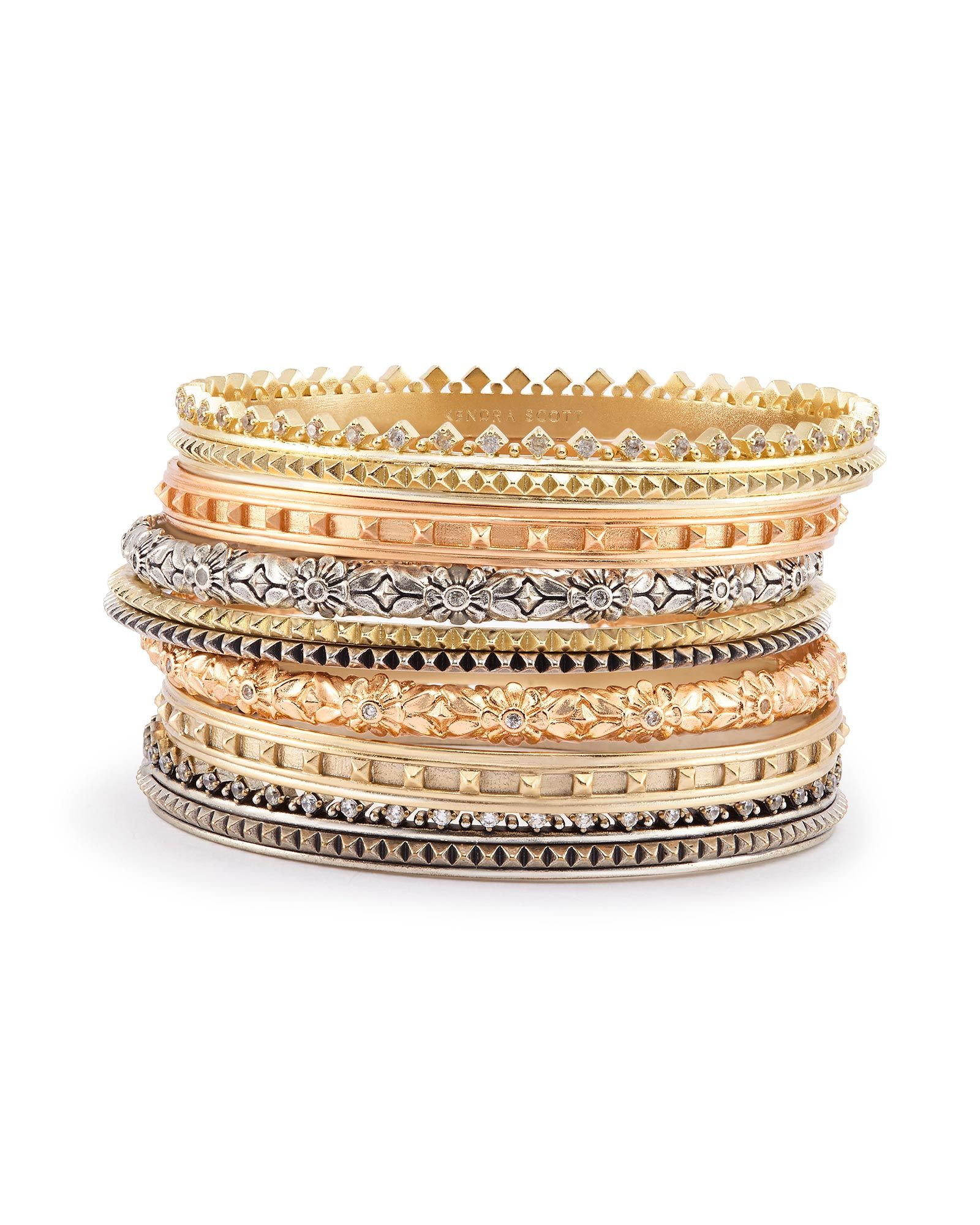 Our Selection Of Tail Rings And Gold Bangle Bracelet Sets At Kendra Scott Mix Match To Create Your Stylish Trendy New Look
