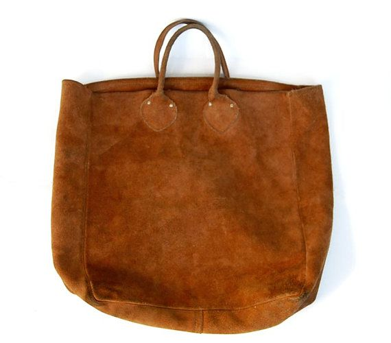 Vintage Leather Tote Bag