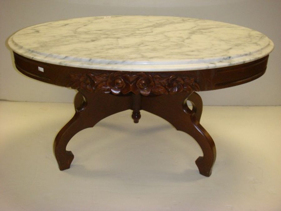 Antique Marble Top Coffee Table Victorian Coffee Tables Marble