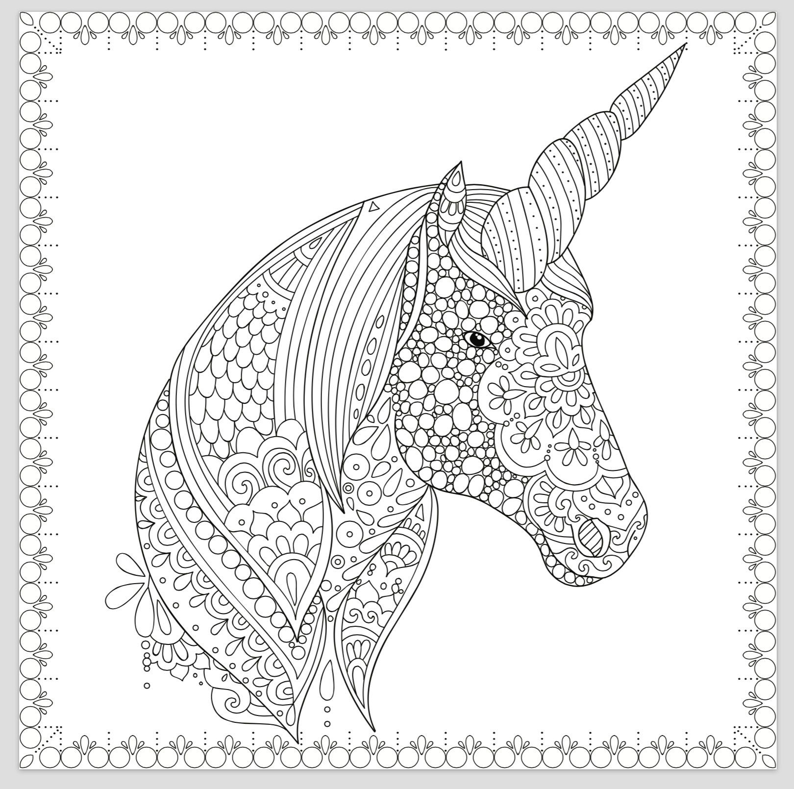 Printable Coloring Page Zentangle Unicorn Coloring Book Unicorn Coloring Pages Coloring Book Art Coloring Pages