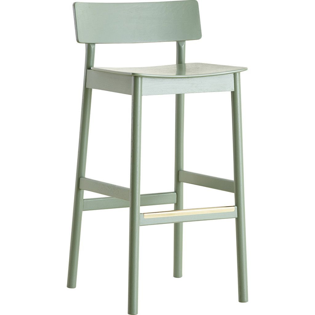 Wondrous Woud Pause Bar Stool Green Bar Stools Stool Inzonedesignstudio Interior Chair Design Inzonedesignstudiocom