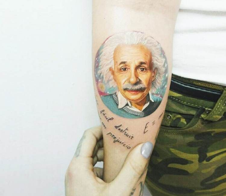 Albert Einstein Tattoo By Andrea Morales