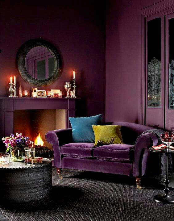 Pin by Tajana KV on Home Decorating Ideas | Purple living ...