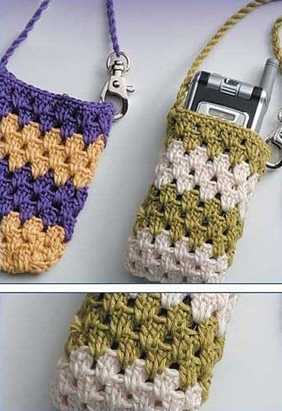 Free Crochet Pattern Mobile Phone Case   Cell Phone Holder ...
