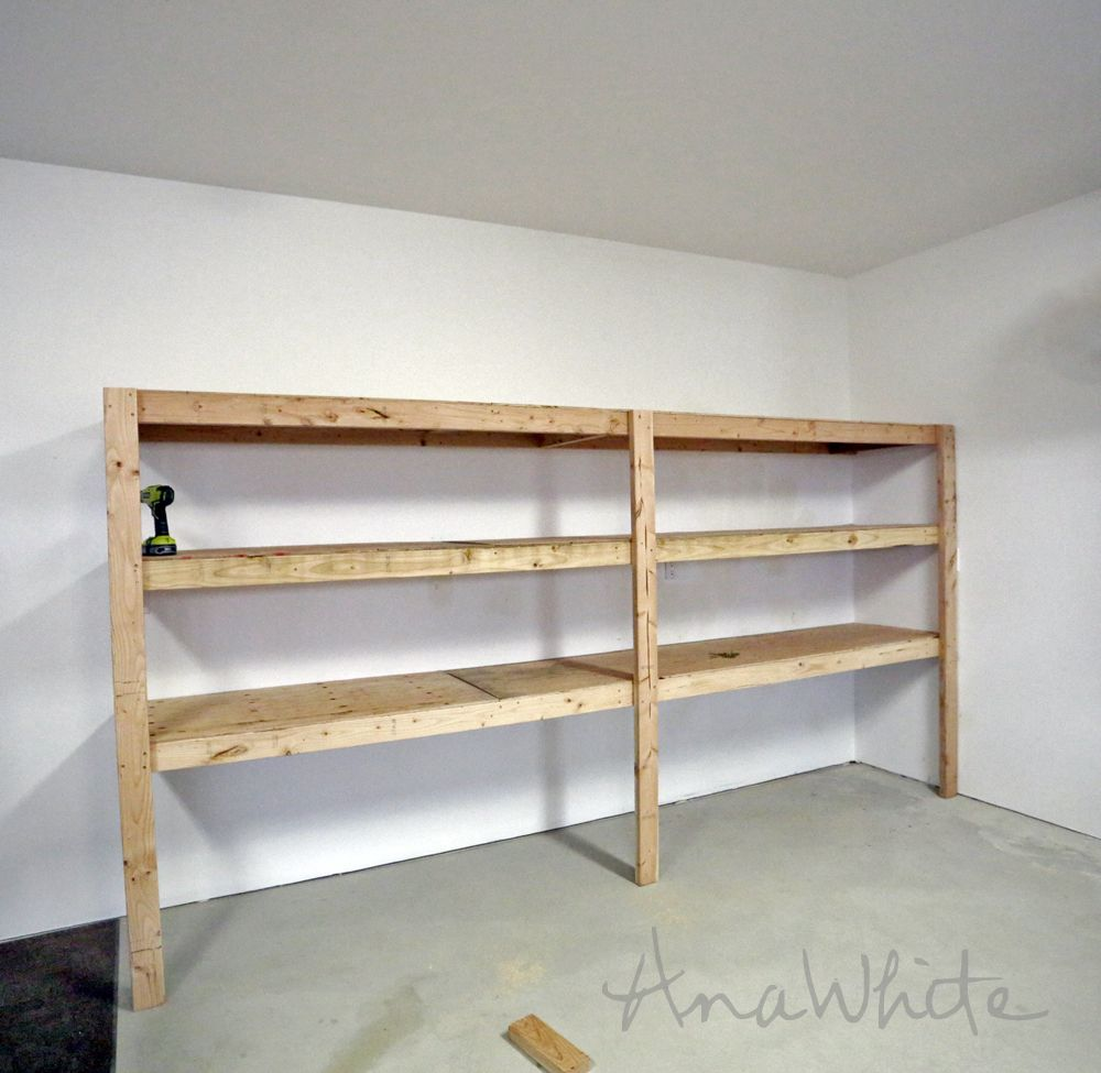 Diy Garage Storage Ideas Projects: Easy And Fast DIY Garage Or Basement Shelving For Tote