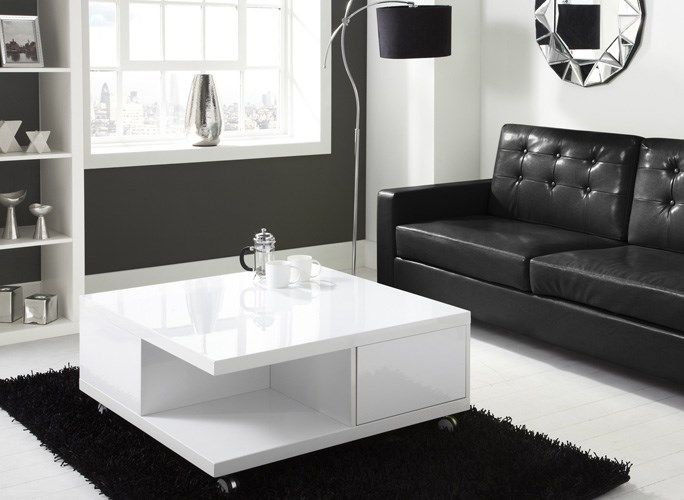 Modern Black High Gloss Coffee Table In 2020 Coffee Table With