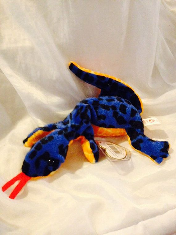 085cefa654d TY Beanie Baby Rare Lizzy the Blue Lizard by JewelzVintage on Etsy