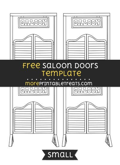 Free Saloon Doors Template - Small