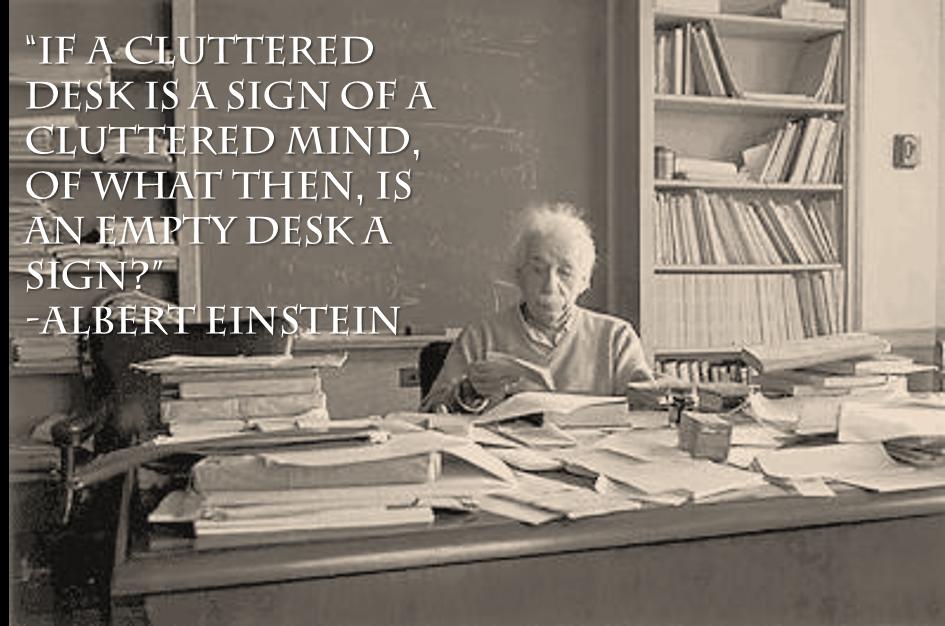 Einstein At His Office Desk Princeton New Jersey Circa 1955