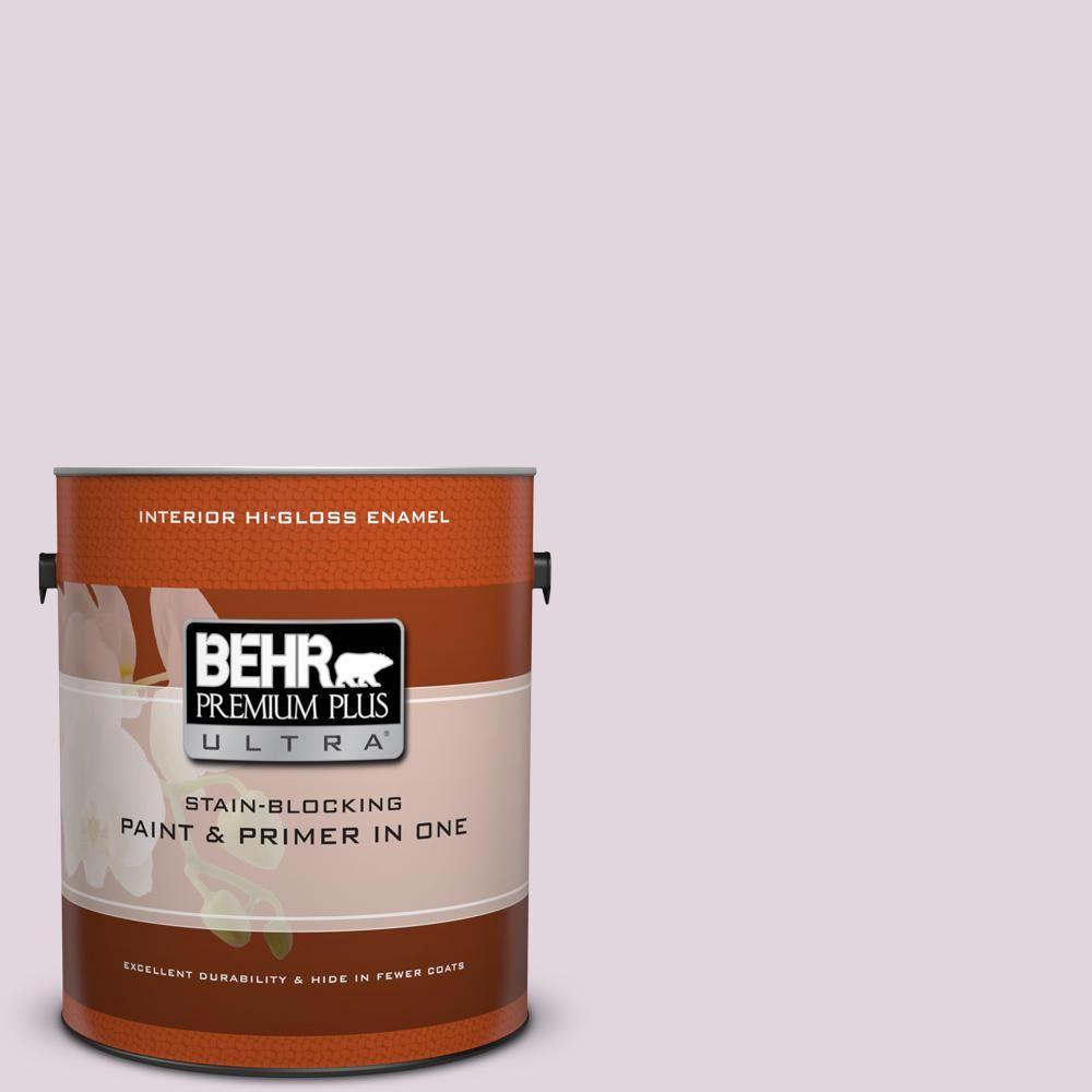 BEHR Premium Plus Ultra 1 gal. #S110-1 Secret Scent High-Gloss Enamel Interior Paint