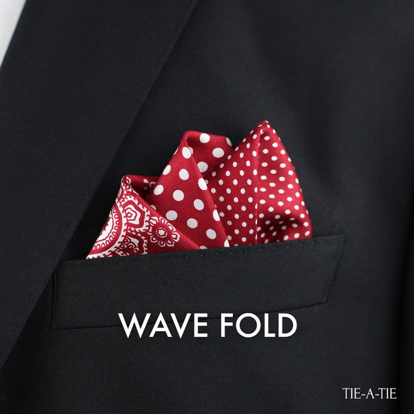 Move And White Pre folded Pocket Hanky Square