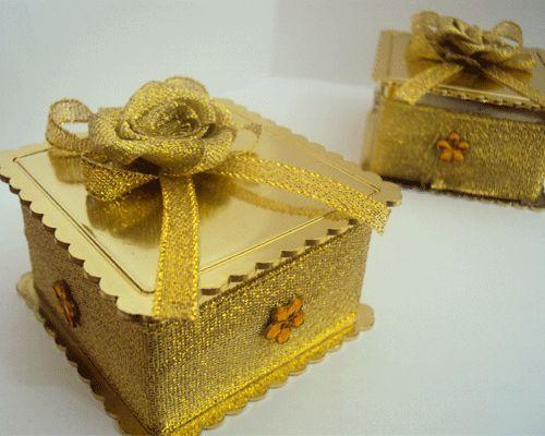 Caixinha Bodas De Ouro Caixa Com 50 Unidades Bodas De Ouro Bodas