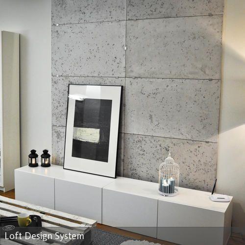 betonoptik wandgestaltung wohnzimmer pinterest wohnzimmer w nde und loft. Black Bedroom Furniture Sets. Home Design Ideas