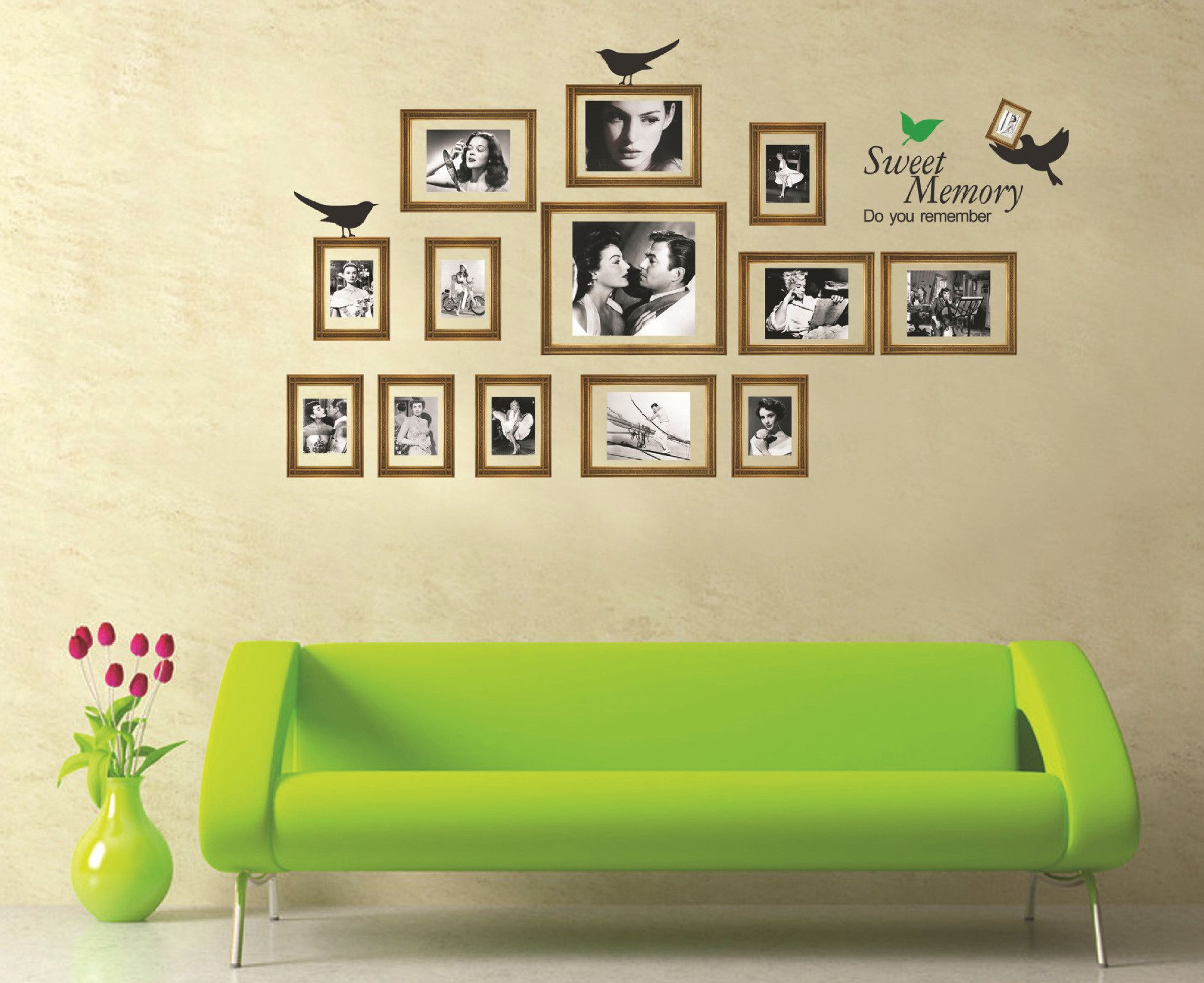 Photo Frame Wall Stickers Vinyl Decal Removable Art Diy Windows