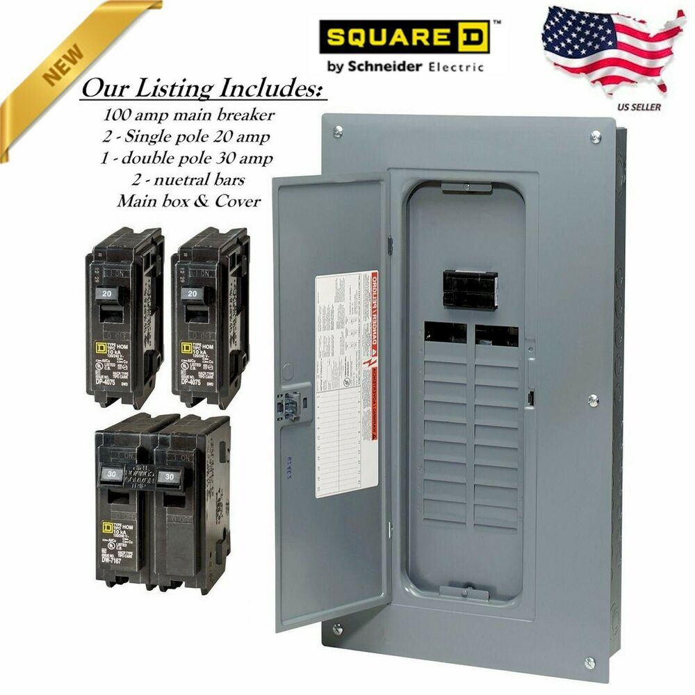 Details About Electric Panel Main Breaker Box 100 Amp 40 Circuit 20 Space Inc 2 20amp 1 30amp Breaker Box Electrical Panel Electricity