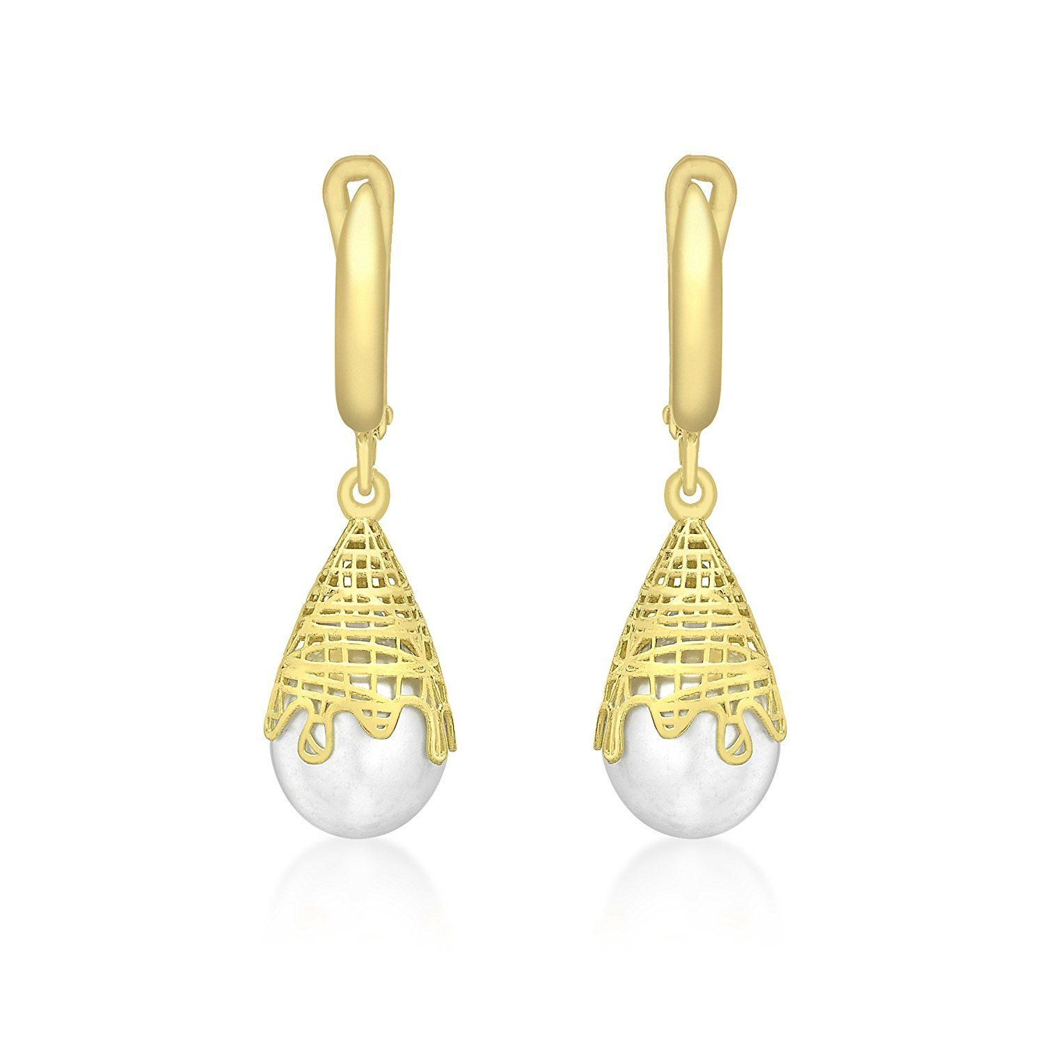 Carissima Gold 9 ct Yellow Gold Leaf Drop Earrings CdICVE