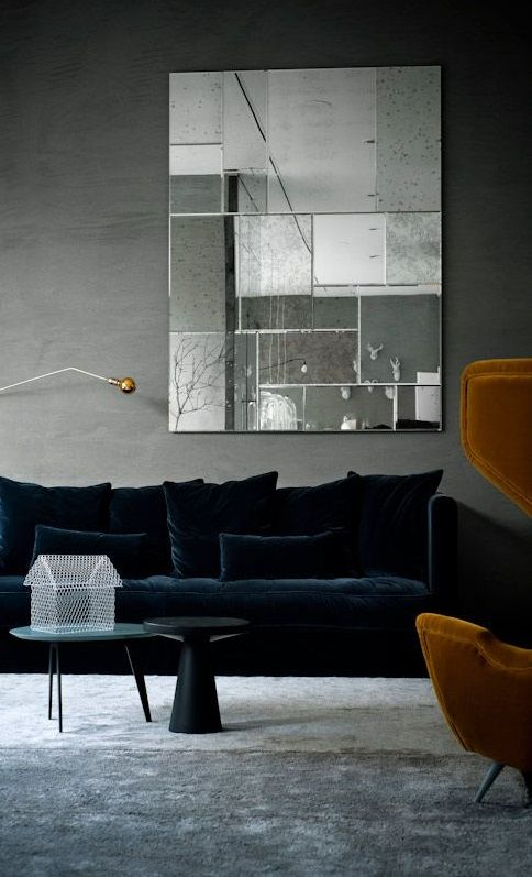 furniture. wall color. http://interiorcollective.com/inspiration/more-velvet-our-take-on-texture